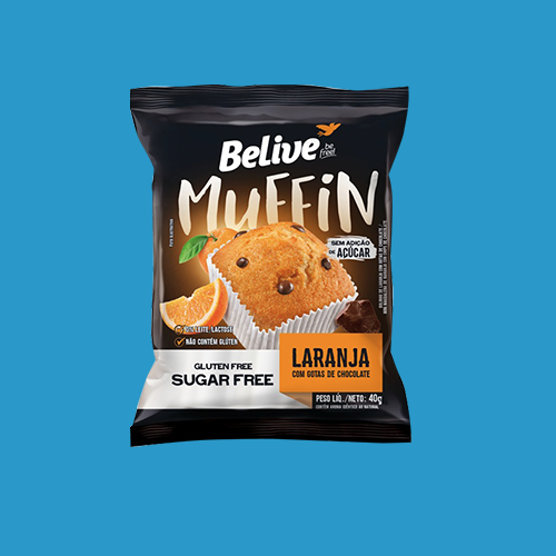 Believe Be Free - Muffin - Laranja com gotas de chocolate 40g